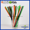 Apple Green Disposable Straw Plastic Drinking Straw