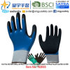 13G Polyester Shell Nitrile Fully Coated Inner, Sandy Nitrile Palm Coated Outer Gloves (N2005) with CE, En388, En420, Work Gloves