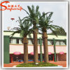 New Design Decorative Artificial Plastic Steel Palm Plant Tree