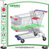 European Style Supermarket Galvanized Shopping Trolleys