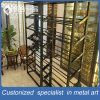 304# Stainless Steel Black Titanium Wine Display Rack for Supermarket