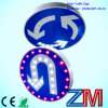 Solar Traffic Sign / LED Flashing Road Sign for Turning Left