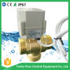 "3 Way 1 1/4"" G Dn32 Brass Vertical Type BSPP Male Thread Electric Ball Control Motorized Valve"