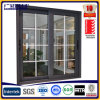 8 mm Double Aluminium Sliding Windows White Frame with Clear Tempered