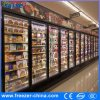 R404A Commercial Swing Glass Door Freezer for Frozen Food Used in Supermarket