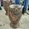 New Dalva Granite Lotus Flower Shape Granite Vases for Tombstone