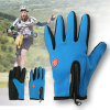 2017 Hot Selling 3 Colors Unisex Durable Soft Warm Outdoor Hiking Camping Skiing Waterproof Nylon Glove Ride Gloves with Zip
