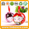 Mini Christmas Ball Tin for Candy Chocolate, Metal Gift Box