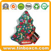 Custom Christmas Tree Shape Metal Gift Tin for Festival Holiday