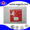 Multilayer Printed Circuit Board with Red Mask and Lead-Free HASL