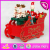 2015 Wooden Craft Christmas Music Toy, Handmade Pretty Coloring Christmas Music Box, Wooden Music Box for Christmas Gift W07b022