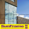 Aluminium Unitized Glazing Curtain Wall with Wooden Aluminium Composite Panel