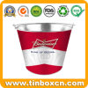 Custom Galvanized Metal Ice Bucket for Beer Tin Pail