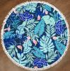 Leaves Pattern Round Shape Beach Towel