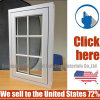 Decorative Plastic PVC Center-Hung Pivot Window