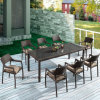 Outdoor Furniture Cheap Price Synthetic Rattan Cube 8-10 Person Dining Table and Chair (YTA581&YTD020-13)