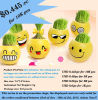 Promotion Bottom Price Mini Garden Magic Cartoon Grass Hair and Head Toy Face Grass