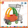 Children Plastic S Upermarket Shopping Trolley with Seat (ZHt230)