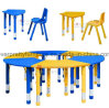 Adjustable Kindergarten Furniture Set for Age 3-10 Years
