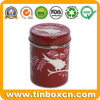 Round Metal Tin Can for Tea Caddy Food Packaging Box