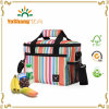 Thermal Cooler Bag Lunch Box Stirpe Insulted Zipper Outdoor with Shoulder Strap