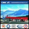Cimc Huajun 3 Axle Gooseneck Fence Semi Trailer with Side Wall