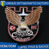 Custom Logo Printed Eagle Shape Metal Badges for Sale