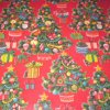 Red Green Christmas Gift Wrapping Paper