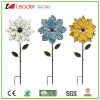 Most Popular Decorative Metal Flower Garden Stake Statue for Lawn and Outdoor Decoration