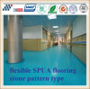 Effective Silencing and Buffer Rebound Multi-Functional Elastic Floor with Liquid Paint