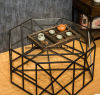 American Fashion Sitting Room Tea Table Wrought Iron Tea Table Glass Tea Table (M-X3224)