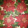 Xmas Cotton Fabric with Golden Ink