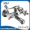 Classic Dual Lever Brass Chrome Wall Mounted Shower Bath Faucet