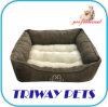 Economical Corduroy Soft Sherpa Square Pet Bed