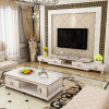 Living Room Modern Style Simple Style Customized Assembling Marble Top Plate-Type Tea Table TV Cabinet Combination