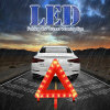 Foldable and Portable 21PCS LED Warning Board Light Road Traffic Red Emergency Flash Safety Triangle Lamp