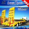 Aotong Low Bed Truck Semi-Trailer for Digger Trasnsporting