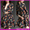 2015 New Designer Ladies Long Sleeve Short Celebrity Dress/Prom Dress (WES004)