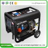 6kVA Open Type Portable Air-Cooled Diesel Generator with Wheels