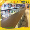 Wooden Grain Aluminium Extrusion Handrail and Barrier Profiles for Decoration