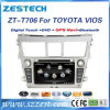 2 DIN Auto Radio DVD for Toyota Yaris Vios GPS Navigation System