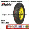 Semi-Pneumatic Trailer Jack 350-8 Rubber Wheel