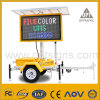 Optraffic Solar Power Advertising and Traffic Management LED Trailer Sign