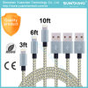 Nylon Braided Fast Charging 8pins Data USB Cable for iPhone6 7 iPad