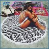 Fashion Sunbathe Round Beach Towel Large Microfiber Printed Yoga Towel