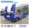 Flexible 120t China Crane Lowbed Lowdeck Semi Trailer