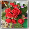 Hot Sale Artificial Decorative Metal Silk Rose Flowers