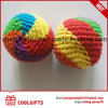Customized Hand Made Woven Kick Toy Ball Juggling Soft Ball for Kids Gift
