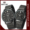 Belbi Couples Business Black Wristwatch Custom Quartz Gift Watch