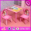 Lovely Design Primary School Table and Chairs, Modern Design Square Wooden Cheap Table and Chairs W08g152
